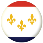 New Orleans (Louisiana) Flag 58mm Mirror Keyring